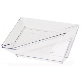 Prato Plastico Triangular Degustação 5x10cm (8 Uds)