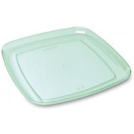 Bandeja Plastico Quadrada Transparente 35x35cm (5 Uds)