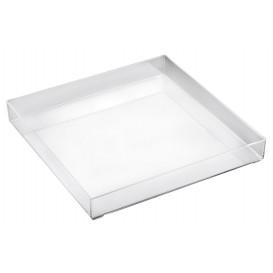 Bandeja Plastico Tray Transp. 30x30cm (1 Unidad)