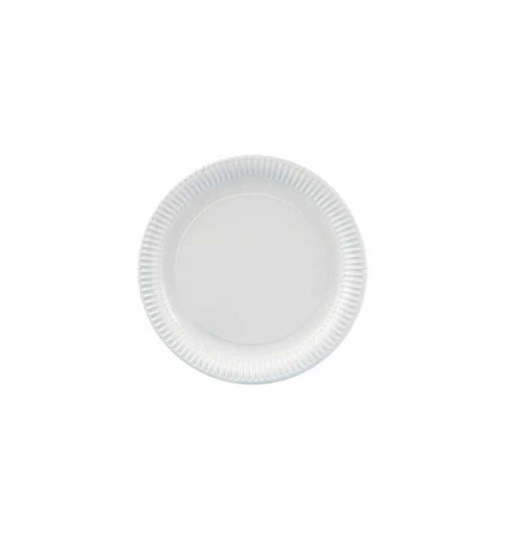 Prato de Cartão Redondo Branco 230 mm (500 Uds)