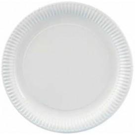 Prato de Carton Redondo Branco 270 mm (400 Uds)