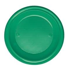 Prato Plastico PS Fundo Verde Ø220mm (30 Unidades)