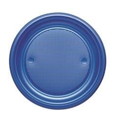Prato Plastico PS Raso Azul Escuro Ø170mm (1100 Unidades)