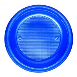 Prato Plastico PS Fundo Azul Escuro Ø220mm (30 Unidades)