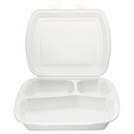 Embalagem Foam PortaMenus 3 Compartimientos (250 Uds)