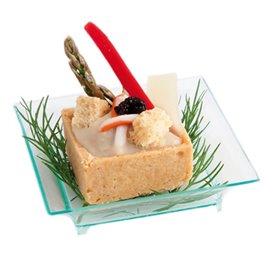 Molhera Degustação Salsa Verde Transp. 6,5x6,5x1,5cm (30 Unidades)