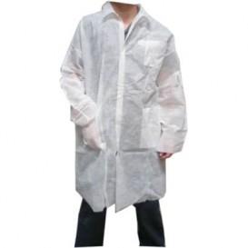 Bata Industria TST PP Velcro e Com Bolsos Branco XL (100 Uds)