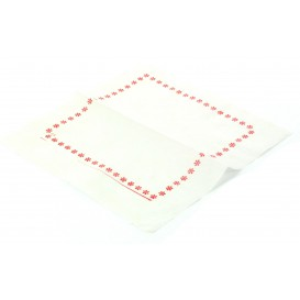 Toalhas de Papel ZIGZAG Vermelho (250 Unidades)