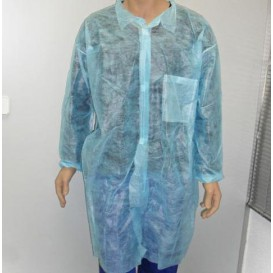 Bata Industria TST PP Velcro e Com Bolsos Azul XL (100 Uds)