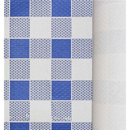 Toalha Papel Rolo Quadros Azules 1x100m 40g (6 Uds)