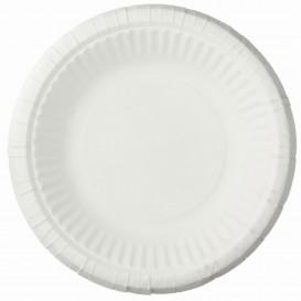 Prato Fundo de Papel Branco Ø19 cm (50 Unidades)