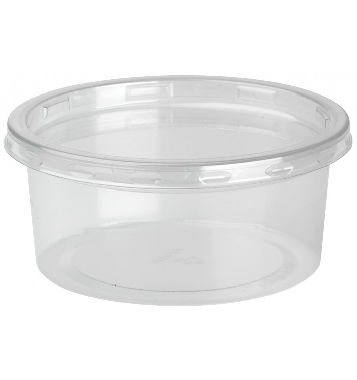 Embalagem Plastico rPET DeliLite con Tampa 7,6oz/217ml (500 Uds)