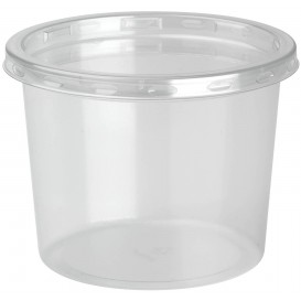 Embalagem Plastico rPET DeliLite con Tampa 9,8oz/279ml (50 Uds)