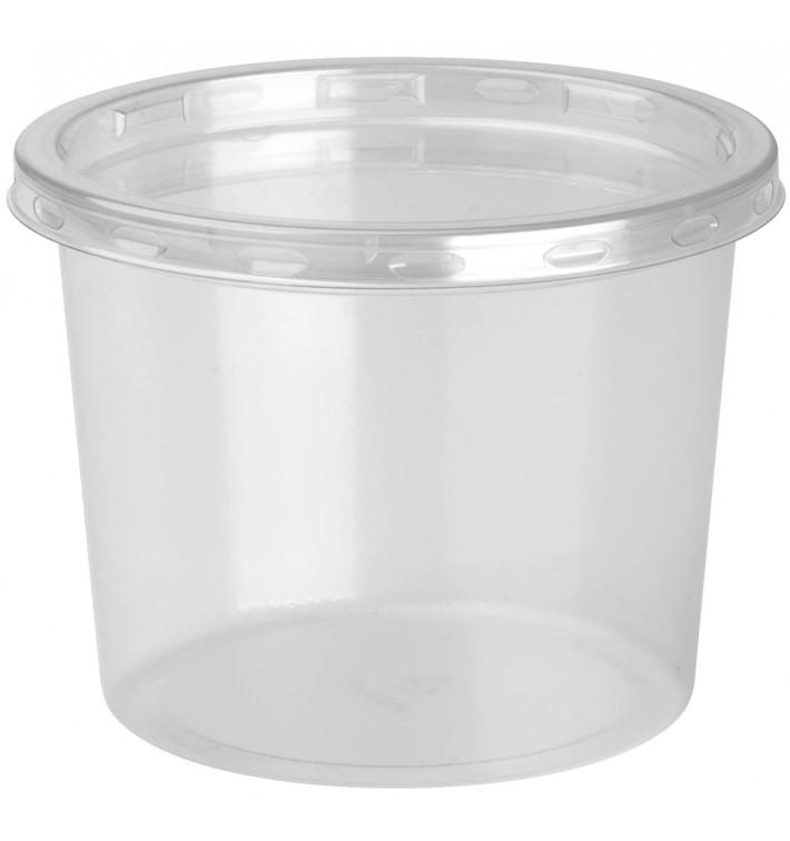 Embalagem Plastico rPET DeliLite con Tampa 9,8oz/279ml (500 Uds)