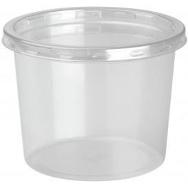 Embalagem Plastico rPET DeliLite con Tampa 13,2 Oz/374ml (500 Uds)