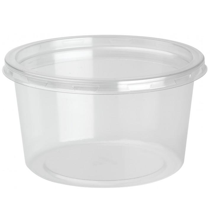 Embalagem Plastico rPET DeliLite con Tampa 19,4 Oz/550ml (50 Uds)