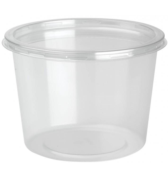 Embalagem Plastico rPET DeliLite con Tampa 24,6 Oz/700ml (300 Uds)