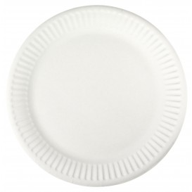 Prato de Papel Branco Ø18,5 cm (100 Unidades)