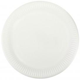 Prato de Papel Branco Ø23 cm (50 Unidades)