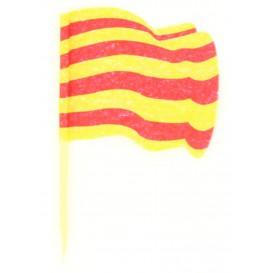 """Pick Bandeira """"Catalunha"""" 65mm (14.400 Uds)"""