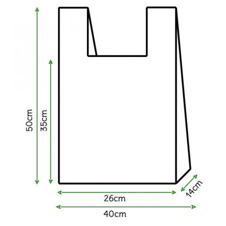 Saco Plastico Alça Branco 40x50cm (4000 Unidades)