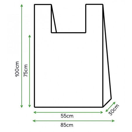 Saco Plastico Alça Branco 85x100cm (500 Unidades)