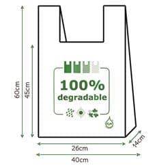 Saco Plastico Alça Degradável 100% 40x60cm (200 Uds)