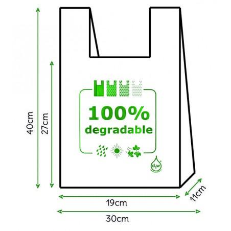 Saco Plastico Alça Degradável 100% 30x40 (6000 Uds)