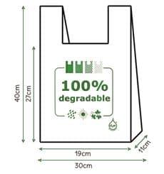 Saco Plastico Alça Degradável 100% 30x40 (3000 Uds)