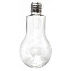 Garrafa Lâmpada Transparente PET 400ml (25 Uds)