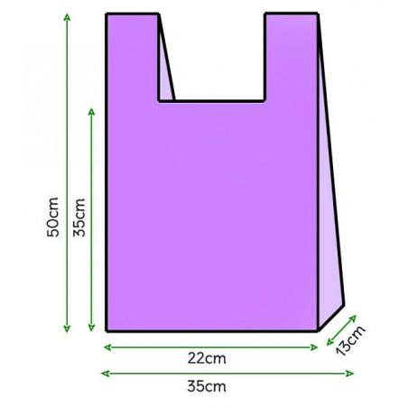 Saco Plastico Alça Lilás 35x50cm (200 Unidades)
