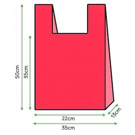 Saco Plastico Alça Vermelho 35x50cm (5000 Unidades)