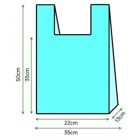 Saco Plastico Alça Azul 35x50cm (200 Unidades)