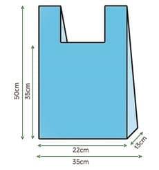 Saco Plastico Alça Azul 35x50cm (1000 Unidades)