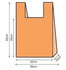 Saco Plastico Alça Laranja 35x50cm (1000 Unidades)