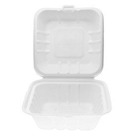 Embalagem Cana-de-açúcar Branco 150x150x75mm (500 Uds)