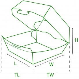 Caixa de Cartão Hamburguer XXL 14,5x14,5x8 cm (400 Uds)