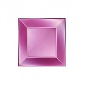 Prato Plastico Raso Rosa Nice Pearl PP 180mm (25 Uds)