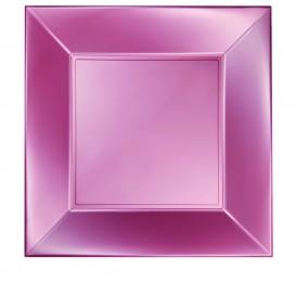 Prato Plastico Raso Rosa Nice Pearl PP 290mm (144 Uds)