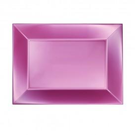 Bandeja de Plastico Rosa Nice Pearl PP 280x190mm (240 Uds)