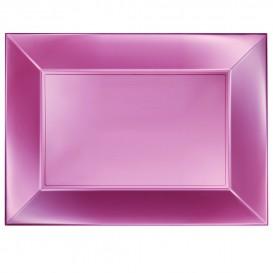 Bandeja de Plastico Rosa Nice Pearl PP 345x230mm (6 Uds)