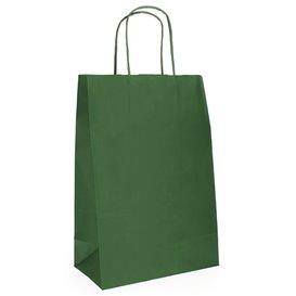 Saco Papel Kraft Verde com Asas 80g 20+10x29cm (50 Uds)
