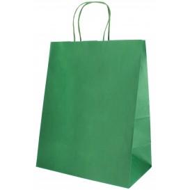 Saco Papel Kraft Verde com Asas 80g 26+14x32cm (250 Uds)