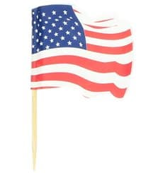 "Pick Bandeira ""USA"" 65mm (144 Uds)"
