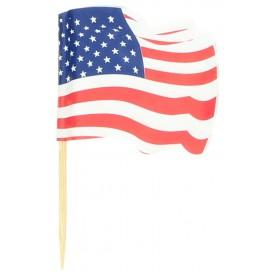 """Pick Bandeira """"USA"""" 65mm (14.400 Uds)"""
