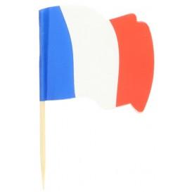"""Pick Bandeira """"França"""" 65mm (14.400 Uds)"""