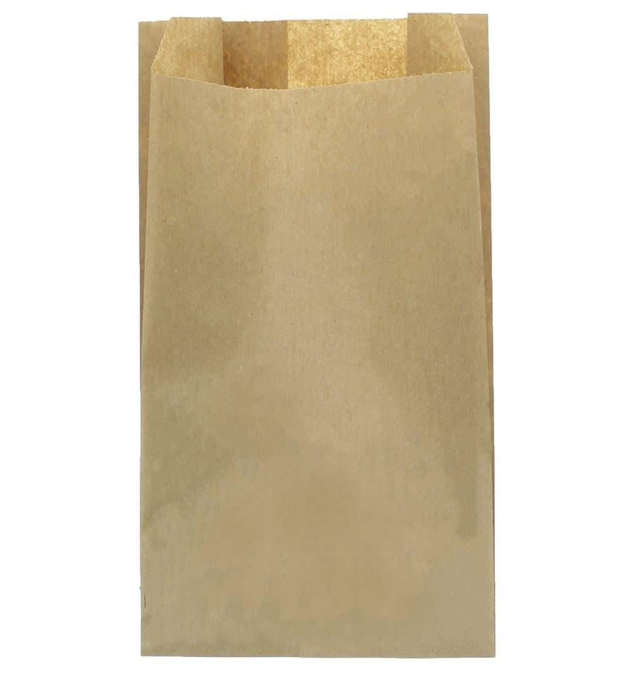 20566ebbb Saco de Papel Kraft 14+7x24 cm (100 Unidades) - MonoUso