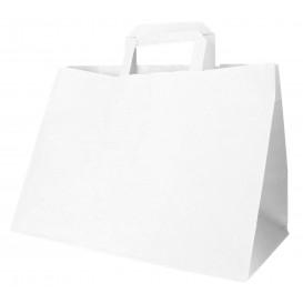 Saco Papel Branco Asas 70g 32+20x23cm (50 Uds)