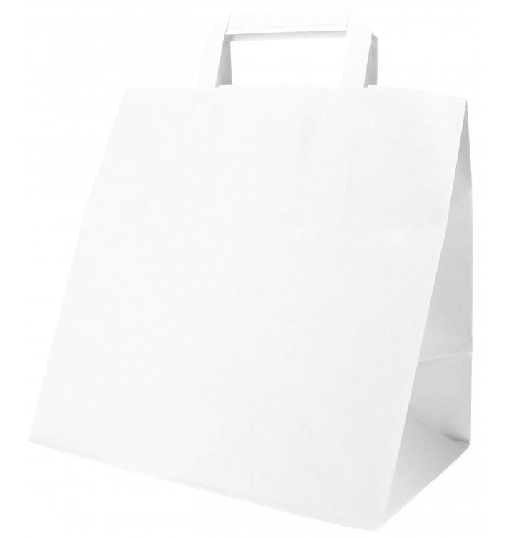 Saco Papel Branco Asas 70g 26+18x26cm (250 Uds)