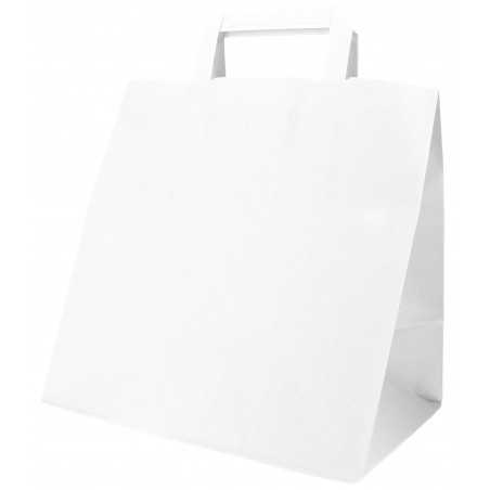 Saco Papel Branco Asas 70g 26x18x26cm (50 Uds)